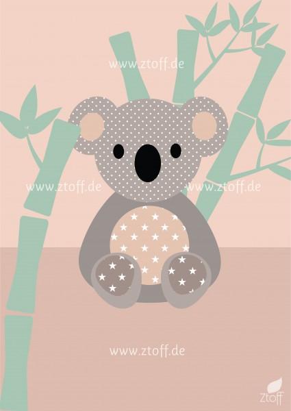 Bild für Kinderzimmer Koala zum Ausdrucken