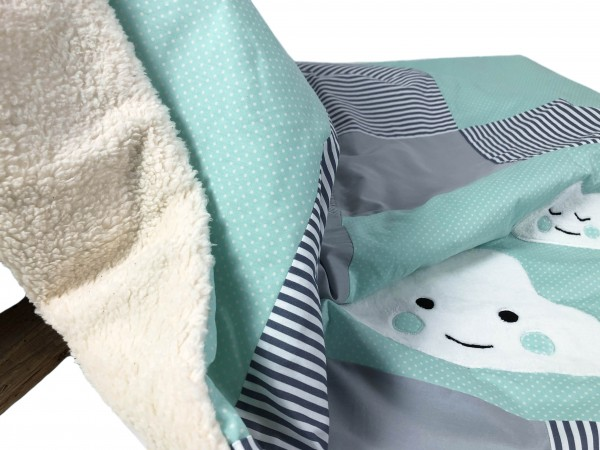 Kuscheldecke mint Dots & Stripes ab XL