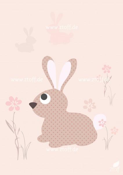 Leinwandbild Hase für Kinderzimmer