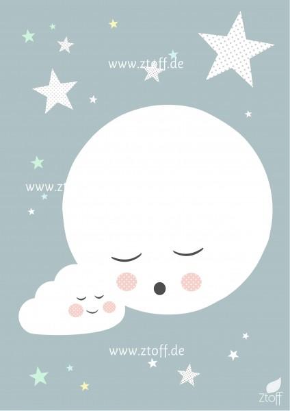 Leinwandbild Mond für Kinderzimmer