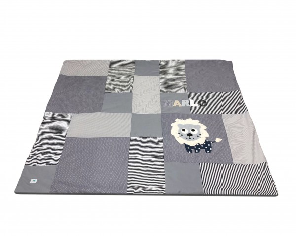 Krabbeldecke Dots & Stripes grau ab XL