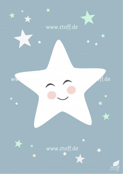 Leinwandbild Stern für Kinderzimmer