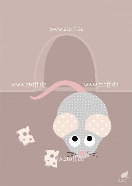 Leinwandbild Maus für Kinderzimmer