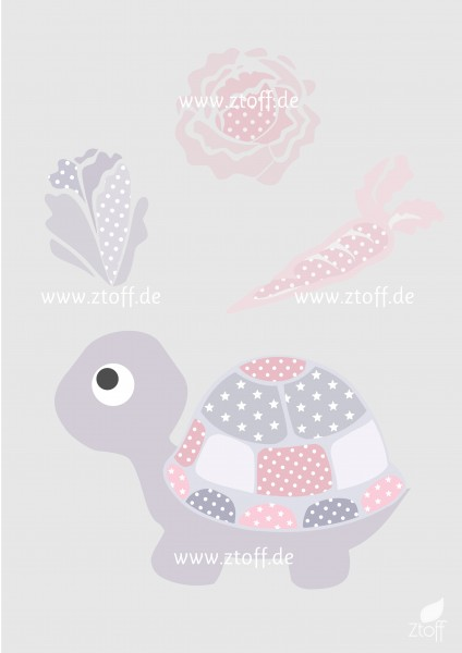 Bild für Kinderzimmer Schildkröte zum Ausdrucken