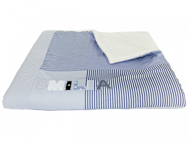 Kuscheldecke grau Dots & Stripes ab XL