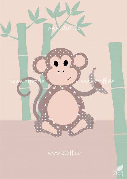 Leinwandbild Affe für Kinderzimmer