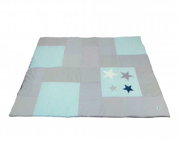 Krabbeldecke Dots & Stripes mint ab XL