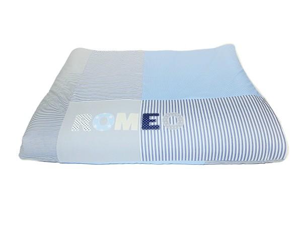 Kuscheldecke hellblau Dots & Stripes ab XL