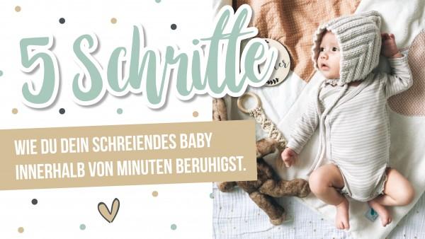 Download- Ratgeber- 5 Schritte, wie du dein schreiendes Baby innerhalb von Minuten beruhigst