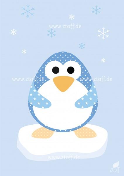 Leinwandbild Pinguin für Kinderzimmer