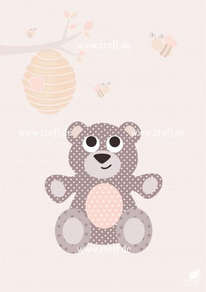 Leinwandbild Bär für Kinderzimmer