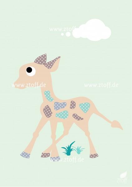 Leinwandbild Giraffe für Kinderzimmer