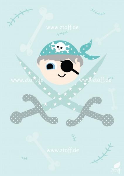 Bild für Kinderzimmer Pirat zum Ausdrucken