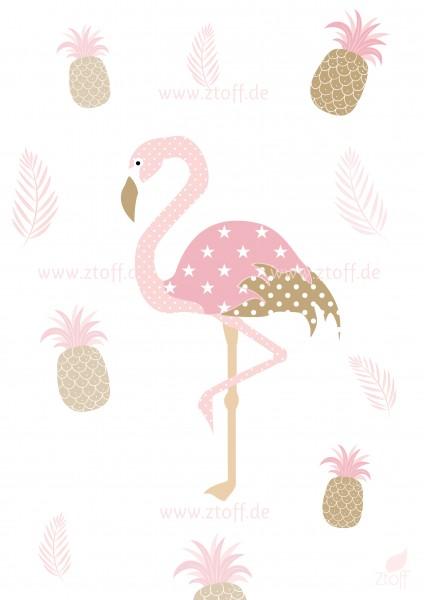 Leinwandbild Flamingo für Kinderzimmer