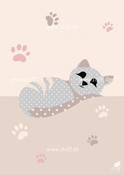Bild für Kinderzimmer Katze zum Ausdrucken