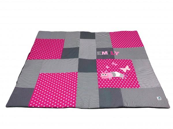Krabbeldecke Ztars pink ab XL