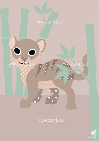 Leinwandbild Tiger für Kinderzimmer