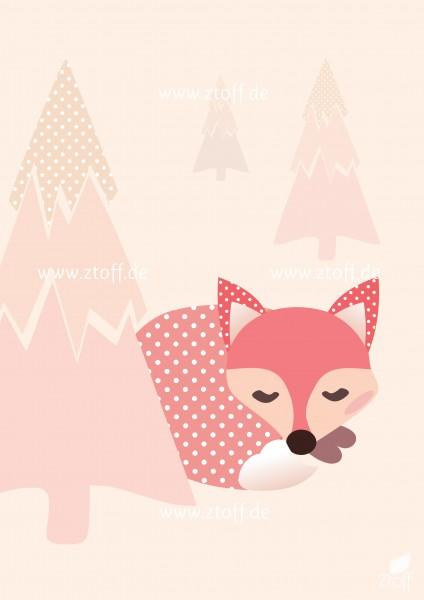 Bild für Kinderzimmer Fuchs zum Ausdrucken