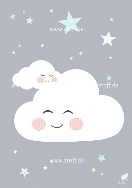 Leinwandbild Wolke für Kinderzimmer