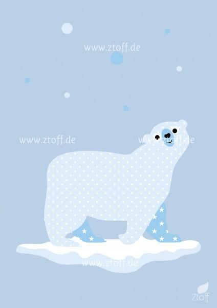 Bild für Kinderzimmer Eisbär zum Ausdrucken
