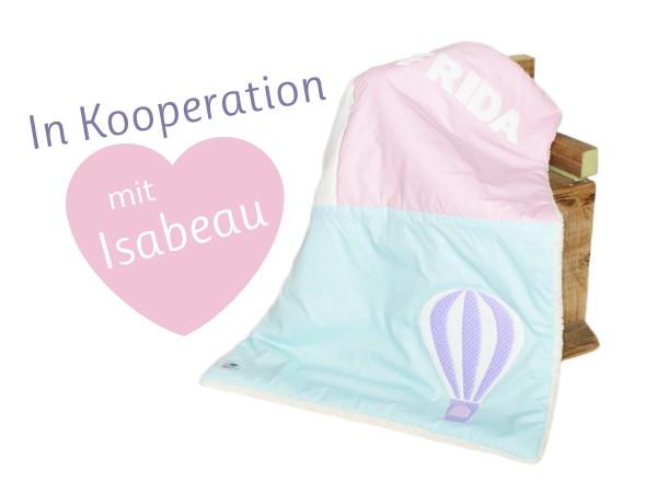 Babydecke Balloon mit Namen - Kooperation: Ztoff mit Isabeau