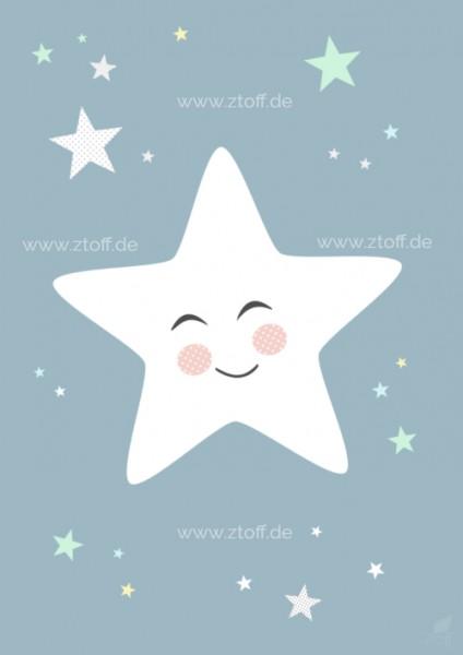 Bild für Kinderzimmer Stern zum Ausdrucken