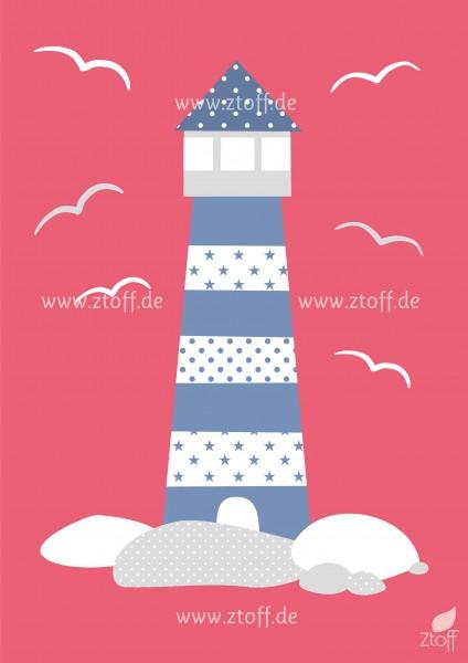 Bild für Kinderzimmer Leuchtturm aus zum Ausdrucken