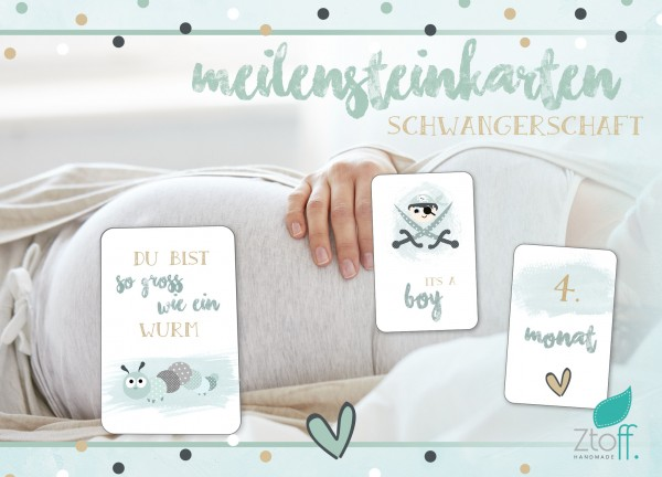Download- Meilensteinkarten Schwangerschaft- SOFORT Download