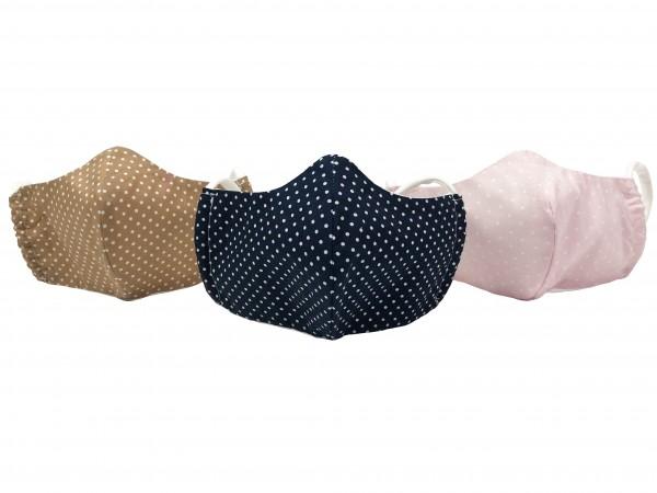 Premium Mundbedeckung Gesichtsmaske Behelfs-Mundschutz Baumwolle- verschiedene Farben