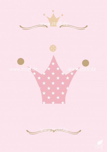 Leinwandbild Krone für Kinderzimmer