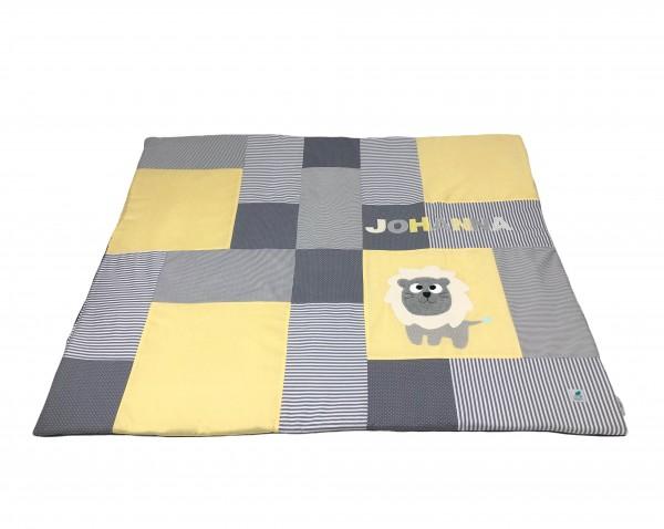 Krabbeldecke Dots & Stripes gelb ab XL