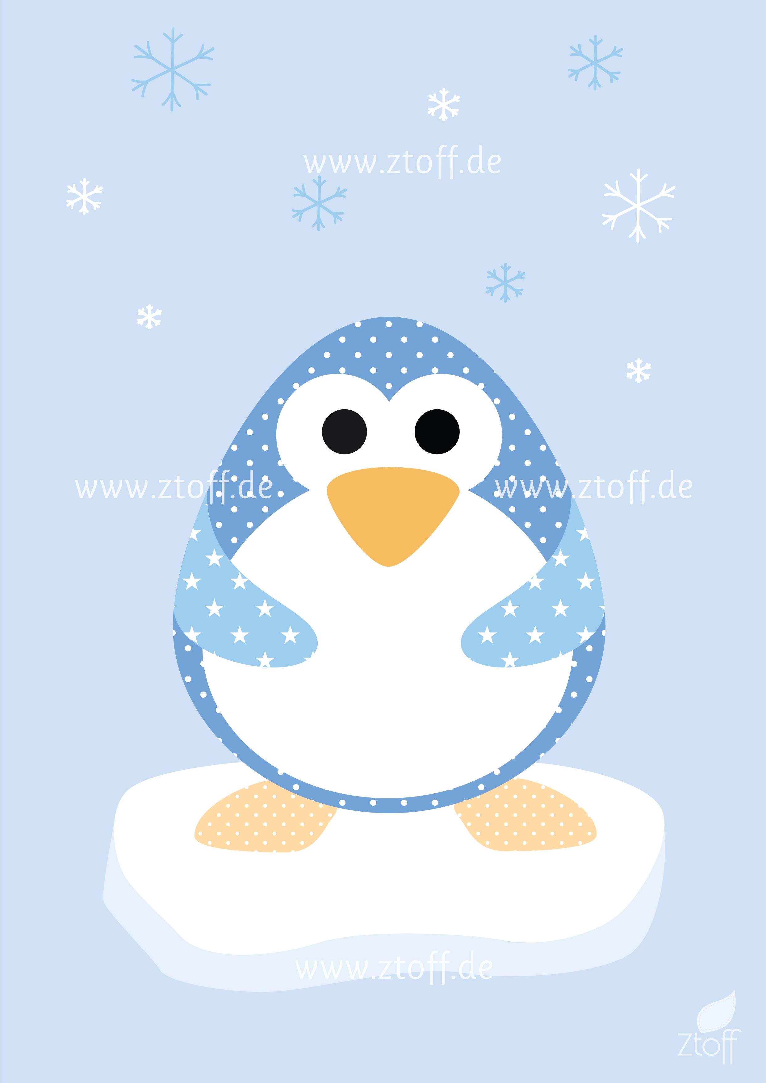 3 Bilder für Kinderzimmer (Pinguin, Eisbär, Wal) zum Ausdrucken